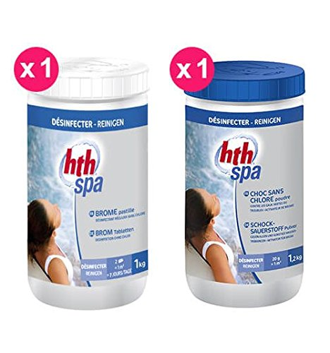HTH Art. Pack Brom Spa 1 x Brom Tabletten + 1 x Schock ohne Chlor - Spa-tabletten