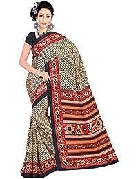 Reya crepe Self design womens saree with blouse