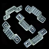 100/lot 12mm Breite LED Halterung Stecker Clip für 100–240V IP67Wasserdicht 352850505630LED Strip Befestigung Halterung