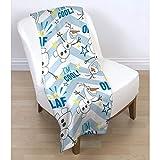 Disney Frozen Kinder Fleece Decke Olaf Rotary (120cm x 150cm) (Blau/Weiß)