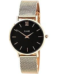 cluse Montre bracelet Mixte à Quartz Analogique en Acier Inoxydable cl30016