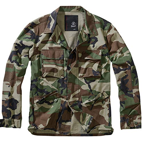 Brandit BDU Ripstop Jacket, Woodland, XXL - Us Woodland Bdu