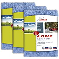 ALCLEAR polishing cloths 2-sided all-rounder for car motorcycle & polishing machine, detailing microfibre polishing cloth set, set of 3, absorbent 40x40 cm blue. preiswert