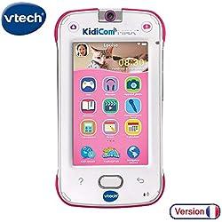 VTech - KidiCom Max Rose - Smartphone pour enfant évolutif, ultra résistant, sécurisé, avec appareil photo intégré