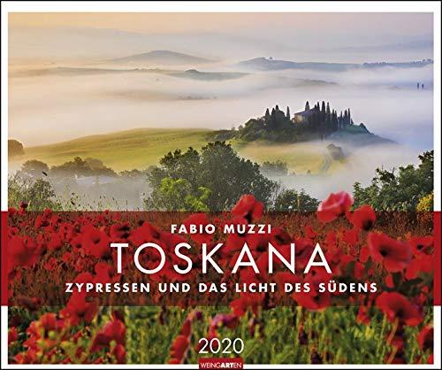 Toskana: Zypressen und das Licht des Südens. Wandkalender 2020. Monatskalendarium. Spiralbindung. Format 55 x 46 cm