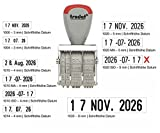 Trodat Classic 1020 ISO Dater - gebrauchsfertiger Datumsstempel im Blister, Schrifthöhe 5 mm