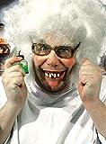 Zähne Gebiss Kostüm Zubehör Wissenschaftler Halloween Karneval