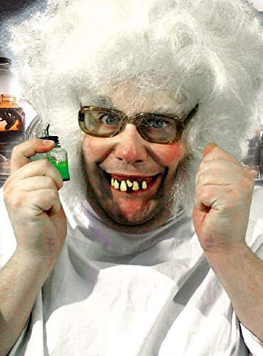 Zubehör Wissenschaftler Kostüm - Zähne Gebiss Kostüm Zubehör Wissenschaftler Halloween Karneval