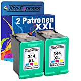 2x Tinten-Patrone für HP 344 XL Color Officejet 7400 100 150 Mobile 6205 6210 6215 PlatinumSerie