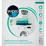 Wpro SKS101 Washing Machine Dryer Accessories/Frame with Shelf/for Connecting Installation Frame Washing Machine and Tumble Dryer (Universal for all brands. 60 x 60 cm With Shelf