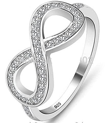 SaySure - 925 Sterling Silver Flowers Rings(SIZE : 6)