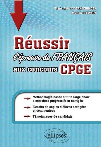 Réussir l'Épreuve de Français aux Concours Cpge