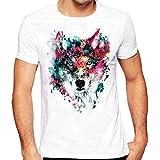 T-Shirts,Honestyi 2018 Frühling Sommer Herren T-Shirt Totenkopf Kapitän Captain Skull Bard Hipster Original Spirit Stylisch Slim Fit Baumwolle Top Bluse Sweatshirts,Oversize S-XXXXL (XL, Weiß-40)