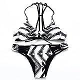 Biancheria intima sexy - Bikini sexy del taglio del pavone inchiostro multi-stampa a colori femminili Costumi Up imbottito costume da bagno 2 pezzi , s