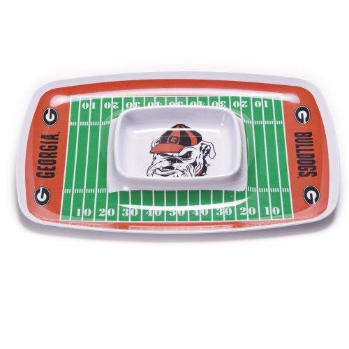 NCAA Georgia Bulldogs Chip und Dip Tablett aus Melamin