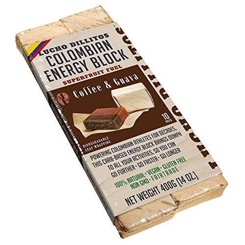 Lucho Dillitos Guaven Bocadillo Kaffee 10er Pack   10 x 40g Energy Block aus Guave   verpackt im biologisch abbaubaren Blatt