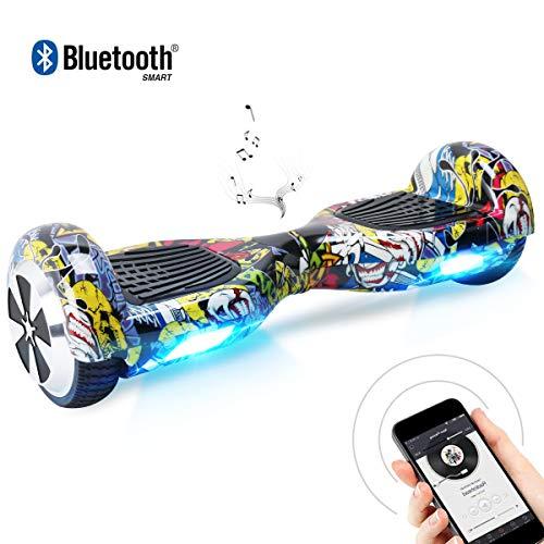 bebk hoverboard 6.5 smart self balance scooter autobilanciato skateboard con 2 * 250w motore, led, monopattino elettrico