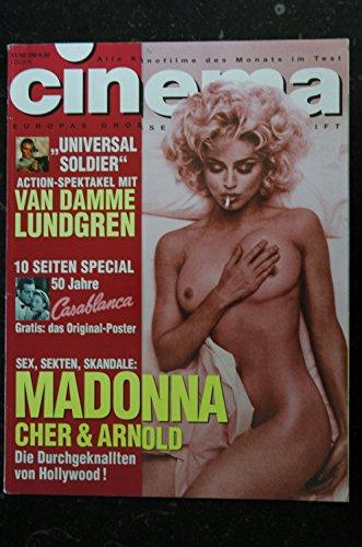 CINEMA 174 NOVEMBRE 1992 COVER MADONNA FETISCH SEX CHER & ARNOLD VAN DAMME LUNDGREN - Sex Madonna