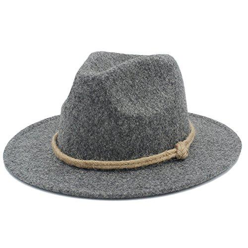 HUILIAN HATS Chapeau à la Mode, Chapeau Fedora Large Bord Brim Femmes Hommes pour Laday Cachemire Jazz Chapeau de l'Église Gentleman Panama Sombrero T
