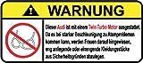 Audi Twin Turbo Motor German Lustig Warnung Aufkleber Decal Sticker
