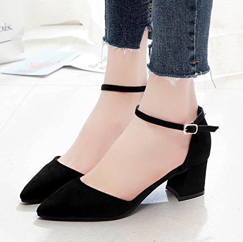 XY&GKSandales femmes Chaussures Femmes Chaussures Baotou, a souligné, le talon et le mollet, le Summer Mode,le meilleur service 34black