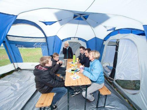 ... Skandika-Nimbus-8-Person-Familytent-GreyBlue-Large ... & Skandika Nimbus family Group Hybrid Design Tunnel Tent 3 Sleeping ...