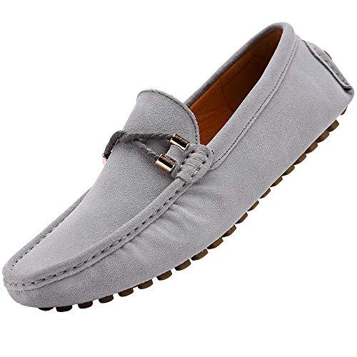 Yaer classiche mocassini scarpe uomo (grigio loafer eu40)