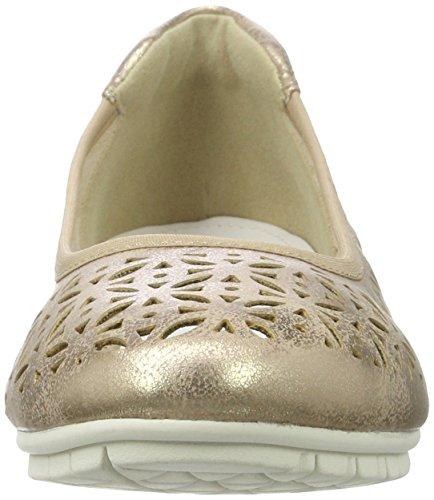 s.Oliver Damen 22125 Geschlossene Ballerinas Gold (ROSE METALLIC 519)