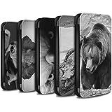 Stuff4 Coque/Etui/Housse Cuir PU Case/Cover pour Samsung Galaxy Core Prime / Multipack (20 Pack) Design / Animaux de zoo Collection