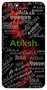Atiksh (Wise) Name & Sign Printed All over customize & Personalized!! Protective back cover for your Smart Phone : Moto E-2 ( 2nd Gen )