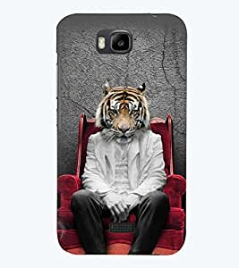 printtech Tiger Back Case Cover for Huawei Honor Bee::Huawei Y 5C