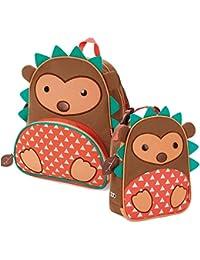De animales con sistema de frío Skip lunchies Cat de neopreno corto para niños mochila para cámara de fotos y barril térmico para el almuerzo bolsa para palos de golf - con forma de erizo