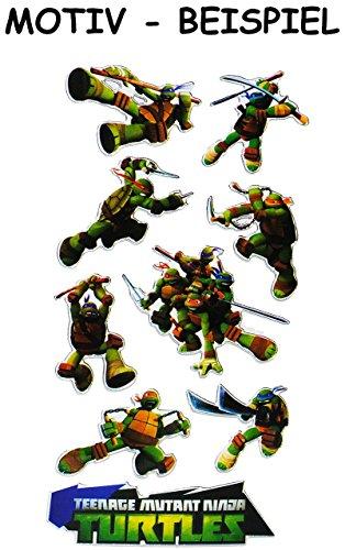 Unbekannt 9 TLG. Set Sticker / Aufkleber -  Tennage Mutant Ninja Turtles  - selbstklebend - für Jungen - Hero Turtle Stickerset Kinder - z.B. für Stickeralbum / Figur..