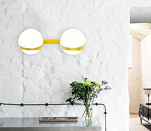 Verre Moderne E14 Personnalité Lampe Murale En Or Lampe De Chevet Simple Chaise De Lit Lampe Murale Créative De Haricot Magique (20 * 10 * 30Cm) , 2