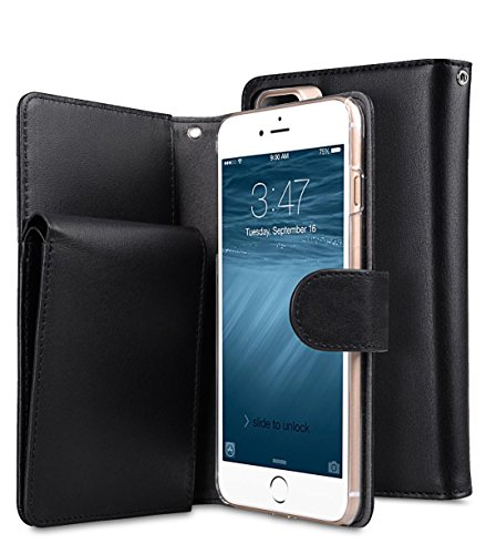 Apple Iphone 7 Melkco Elite-Serie Premium Leder-Snap zurück Tasche Tasche mit Premium-Leder Handgefertigte gute Schutz, Premium Feel-Tan Black 3