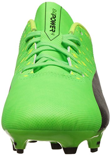 Puma Unisex-Kinder Evopower Vigor 4 Fg Jr Fußballschuhe Grün (green gecko-puma black-safety yellow 01)