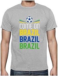 Green Turtle T-Shirts Camiseta para Hombre - Vamos Brasil! - Regalo para los Fans de la Selección Brasilera Fútbol