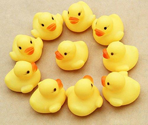 Ularma 12 Gummi Ente Entchen Bad Baby Dusche Spielzeug Party Gefälligkeiten Spielzeug Gelb Ente - 2