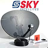 Sky Satellites 80CM Zone 2 Freesat HDR Satellite Dish DIY Self Installation Kit,Latest