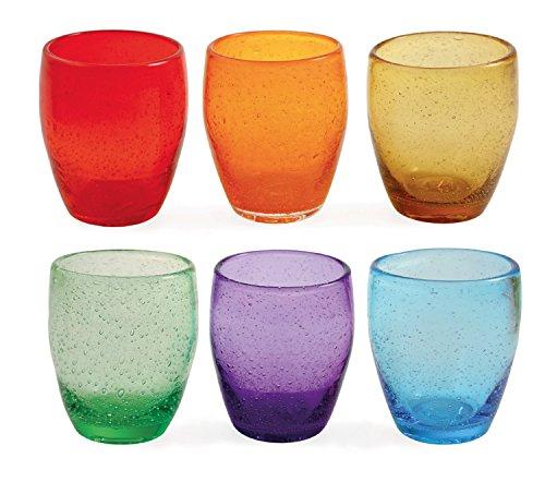 Villa D'Este Acapulco Juego de 6 Vasos de Agua, de Cristal, Multicolor
