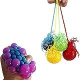 Slime Stress Ball Stress Relief Squeeze Ball Grape Autism Reliever (Random Color ) (4)