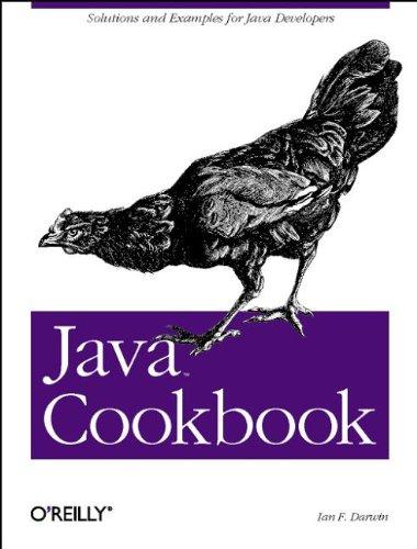 JAVA COOKBOOK par Ian F. Darwin