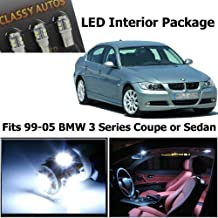 Classy Autos BMW 3 Series White LED Lights Interior Package Kit M3 E46 (9 Pieces) by Classy Autos