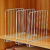 ZAK168 Schrank-Draht-Regalteiler, Set von 3 Kleiderschrank-Trennschränke Trennklemmen Regale Trennwand Set Trennwand Platzsparend Home Kleidung Storage Organizer, weiß, Free Size