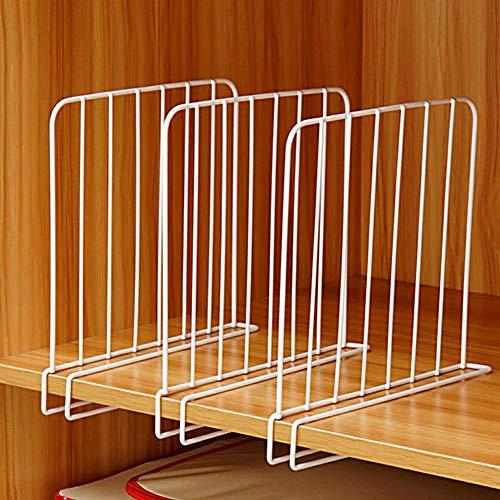 3x armadio scaffale divisore separatore di filo metallico, organizer per camera da letto, bagno, cucina e ufficio ripiani salvaspazio