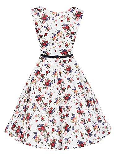 N361 Damen Kleid Rockabilly Petticoat Sommerkleid Retro 50er Jahre Vintage Party D14895-1001-6