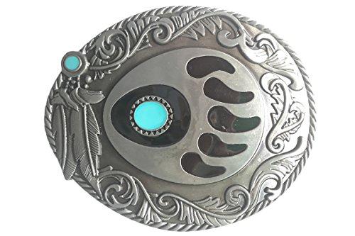 Bai You Mei Oeste Hojas Oso Claw Art Cinturón Hebillas Nativo Americano Indian Cowboy Belt Buckle