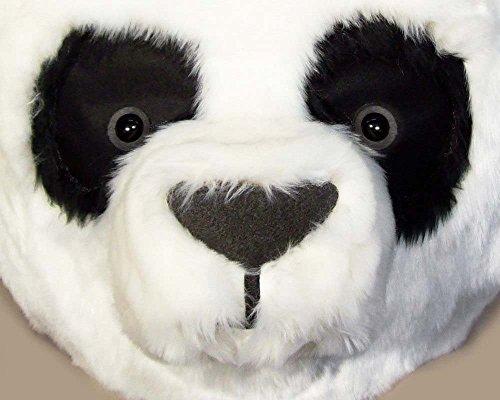 Panda Head Tier Kostüm Maskerade Maske für Erwachsene, Frauen, Männer. Tierfreundliche tragen Kopfschmuck Handgefertigt von Tentacle Studio (Tier Maskerade Kostüm)