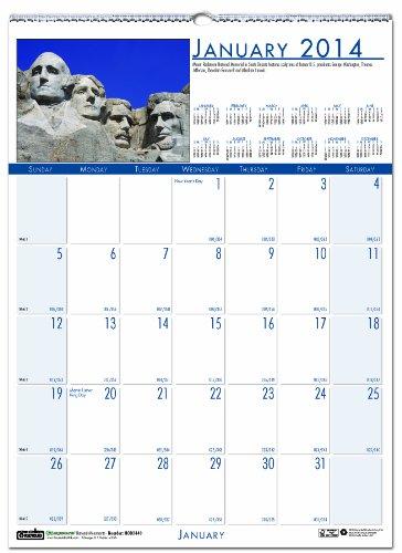 House of Doolittle Earthscapes National Monuments Wandkalender 12Monate, Januar 2014bis Dezember 2014, 30,5x 41,9cm, Full Color Foto, recyceltem (hod3649)