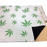 2m² ALUBUTYL Dämmplatten 500x400 mm Anti Dröhn Matte Bitumen-Ersatz mit Aufdruck: Weed Leaf
